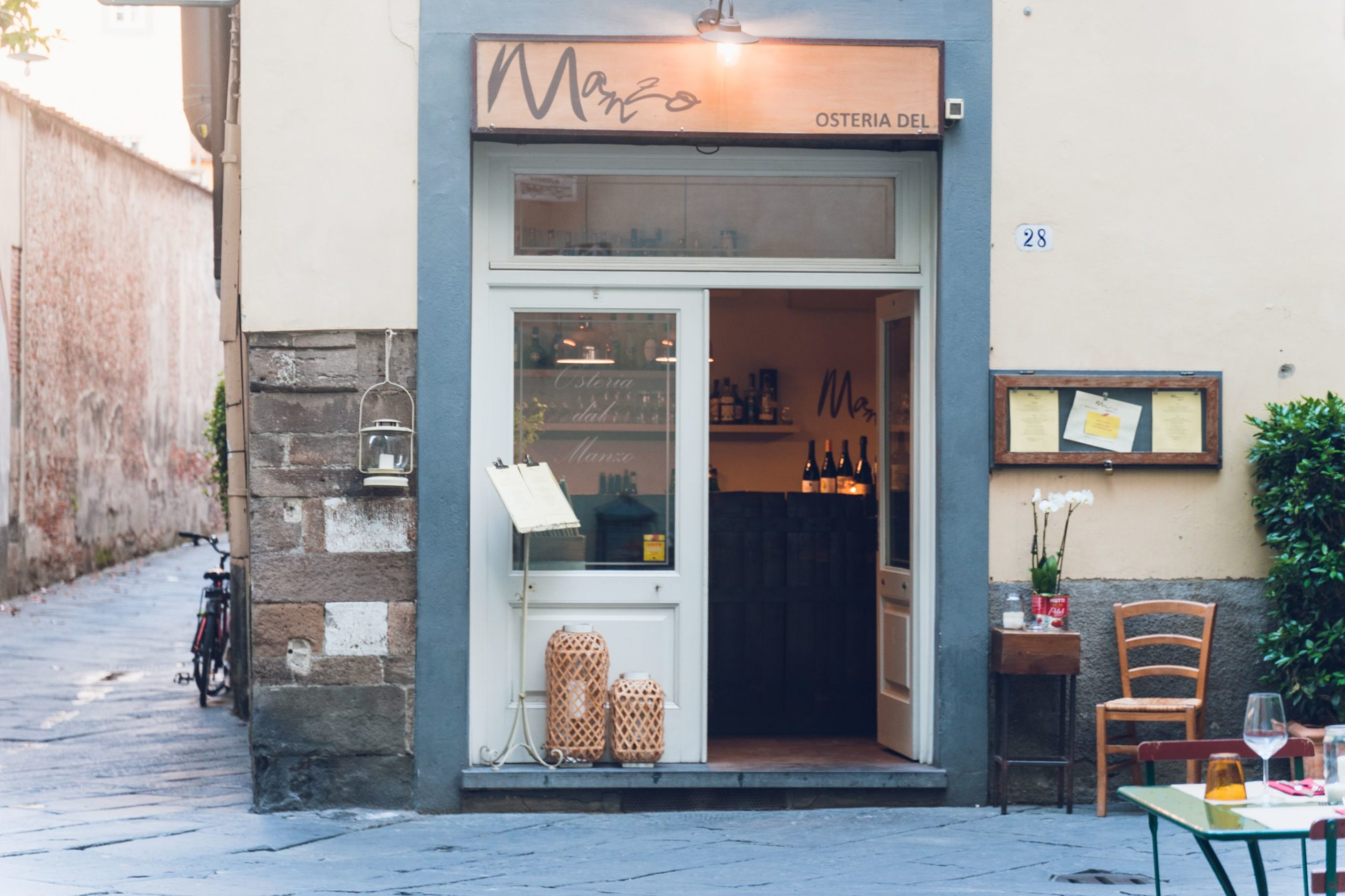 Osteria Dal Manzo from the outside