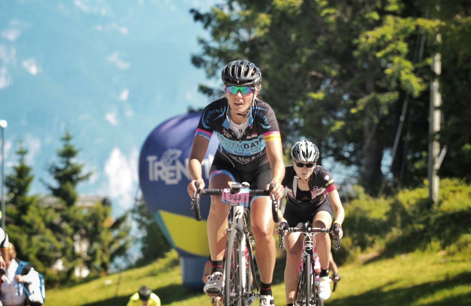 Cyclist racing a Gran Fondo