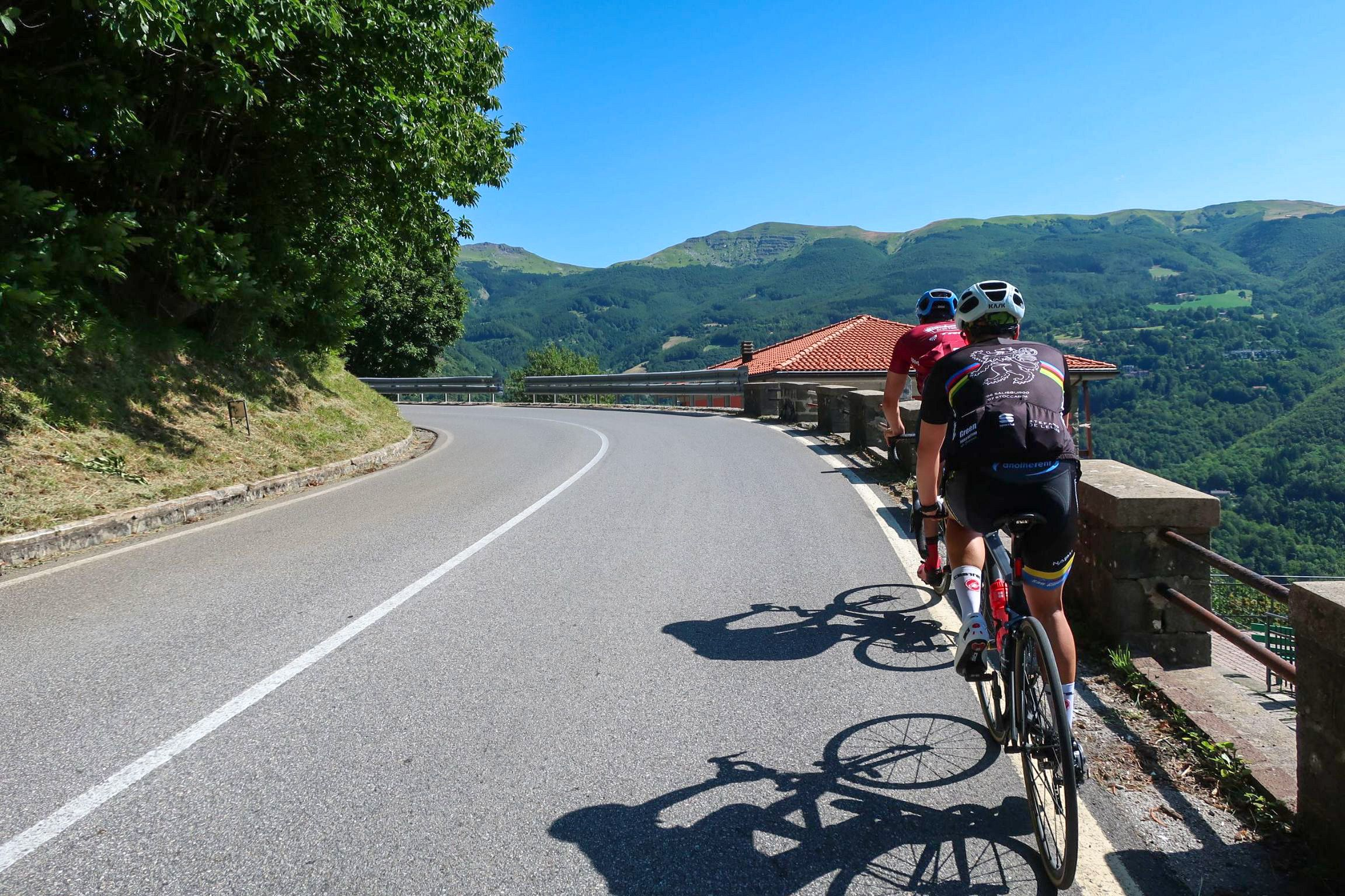 Cycling up Abetone, Tuscany