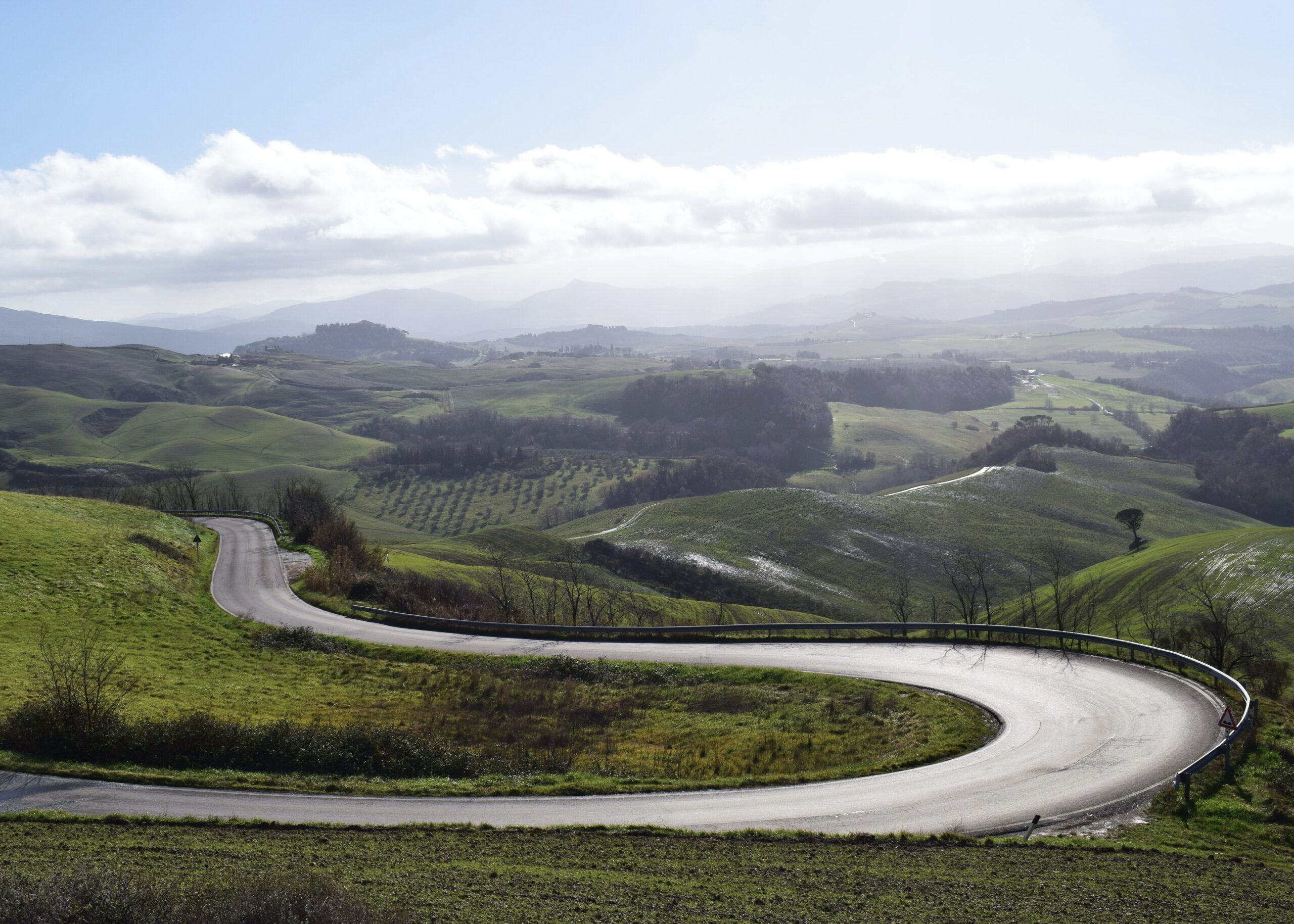 Cycling roads in Volterra, Tuscany